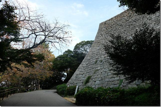 三の丸北側の石垣