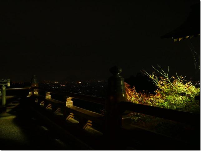 御本宮前からの夜景