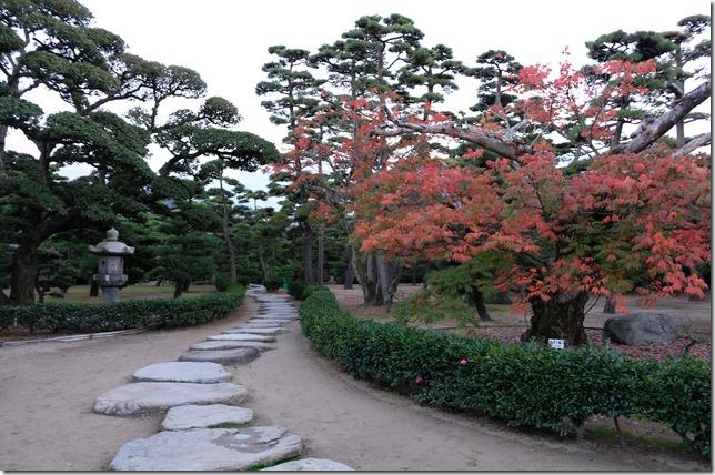 披雲閣庭園の紅葉