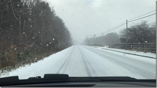 松前までの雪道