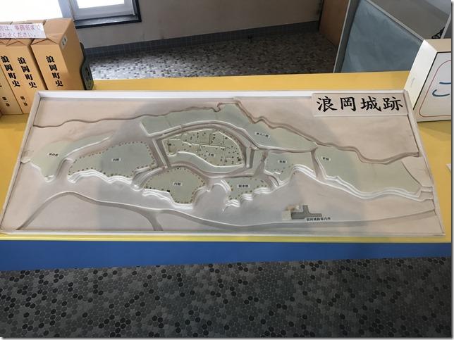 浪岡城 立体案内図