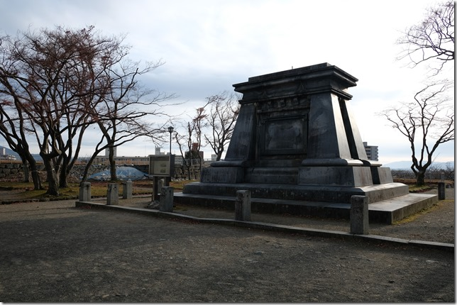 盛岡城 南部利洋中尉銅像台座
